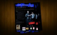 """Projekt plakatu - wydarzenie w Krakowie """"Dzień Argentyński"""""""