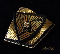Jewelry featuring silk screen design Night Wind.