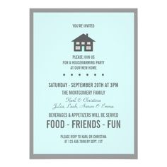 Housewarming Invitation  Pins On The Go