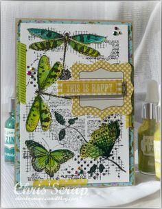 """Carte """"This is Happy"""" par Chris'Scrap pour CARABELLE STUDIO"""