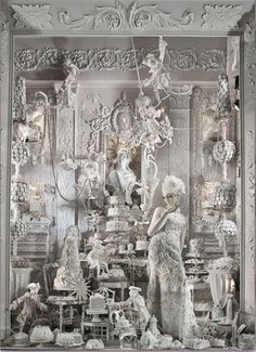 the holiday window displays at NYC's Bergdorf Goodman would make interesting circus tents ...