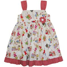 Powell craft girls at play dress available online from Loobylou's.Pure cotton with red straps & red spotty fabric flower in Powell craft girls at play fabric. Toddler Fancy Dress, Toddler Girl Dresses, Powell Craft, Cool Baby Clothes, Retro Baby, Crafts For Girls, Cute Outfits For Kids, Play Dress, Vintage Fashion