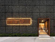 entrance + signage  Food & Forest park restaurant on Interior Design Served