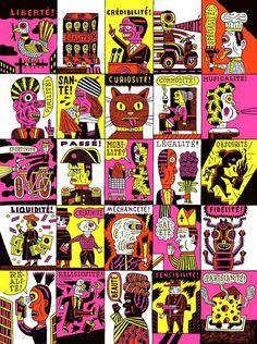 Commande artistique de la Ville de Paris (Fonds Municipal d'Art Contemporain) pour Célébrer Paris, Fête du graphisme 2014, Paris.  © Henning Wagenbreth, Allemagne  http://www.pixelcreation.fr/nc/galerie/voir/celebrer_paris/celebrer_paris/wagenbreth_henning_celebrer_paris_graphisme_en_france/