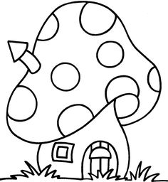 Ideas house drawing kids coloring pages Easy Coloring Pages, Coloring Pages For Kids, Coloring Sheets, Coloring Books, Kids Coloring, Applique Patterns, Applique Designs, Embroidery Designs, Applique Templates