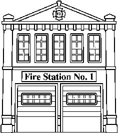 police station building coloring pages - photo#30