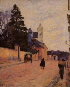 Street in Rouen - Paul Gauguin