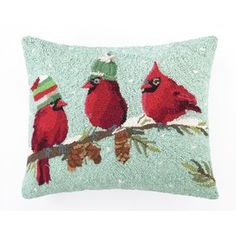Red Birds Pillow