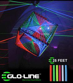 SW25 - Glo-Line™ UV Reactive Blacklight Luminescent Fluorescent Rope - 25ft