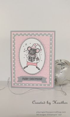 Playing with Papercrafting: Merry Mice in Pink Pirouette and Smoky Slate
