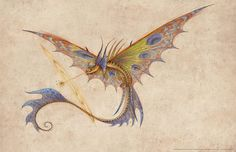 Concept art for the Deathsong, a dragon that should appear in the show Dragons: Race to the Edge.