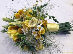 Il bouquet in giallo