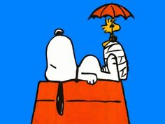 SNOOPY and Woodstock - Ouch, I have a sore foot ~ Pinned by Nathalie Gobbe