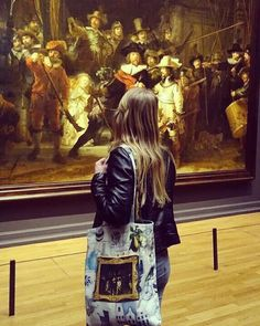 PamsDutchDesign  'Copy Past! Have one of the most famous painting on your bag!  Find out which famous paintings we…' Etsy /  bag / rembrandt / nachtwacht / nightwatch / painting / rijksmuseum / Amsterdam