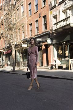 Pink Velvet Moment in New York City | Song of Style