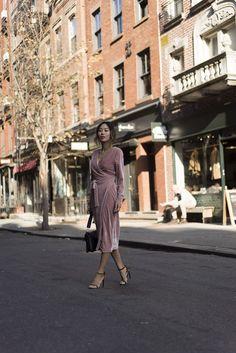 Pink Velvet Moment in New York City   Song of Style