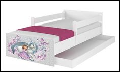 Disney children's bed Sofia 1- white – Kiddymill Magical Room, Childrens Desk, Mattress Frame, Bed With Drawers, How To Make Bed, Kid Beds, Cot, Kids Bedroom, Toddler Bed