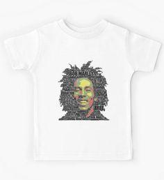 Angel Decuir Tienda @redbubble Ropa para bebés y niños | Clothes for babies and children  #artprint #shop  Bob Marley Words Clothing Reggae