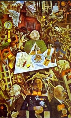 George Grosz was also a member of the Berlin Dada movement and was an admirer of Hoch's work.