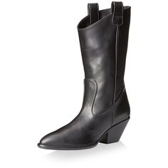 Giuseppe Zanotti Women's Western Boot (€1.060) ❤ liked on Polyvore featuring shoes, boots, pointed toe cowboy boots, pointed toe cowgirl boots, leather cowgirl boots, cowboy boots and cowgirl boots