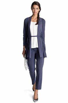Esprit - Cardigan aus Jersey+Gewebe im Online Shop kaufen