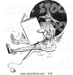 Reading Books Clip Art Black and White Find lots more of the best vintage book illustrations at vintagebookillustrations.com