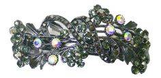 Large Crystal Barrette in Exquisit Design with Sparkling Crystals OR86015-2crystal >>> Read more reviews of the product by visiting the link on the image.