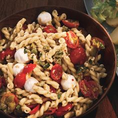 Olivada, an Italian olive spread, adds flavor and         color to this side dish.