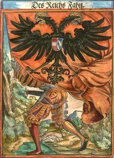 """[Des Reichs Fahn] (f°2) -- Koebel, Jacob, """"Wapen des heyligen römischen Reichs teutscher Nation"""", Franckfurth am Main, 1545 [BSB Ms. Rar. 2155]"""