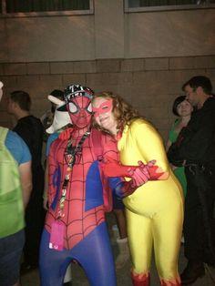Spiderman and Firestar