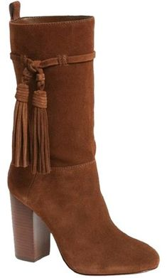 Vince Camuto Brown Fermel Suede Leather Tassel Boots Size US 10 Regular (M, B) - Tradesy