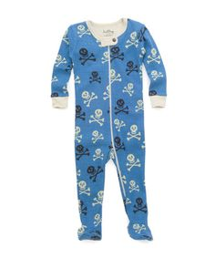 Take a look at this Blue Skull Footie - Infant by Hatley on #zulily today!