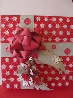 Homemade Christmas box made with Martha Stewart score board!