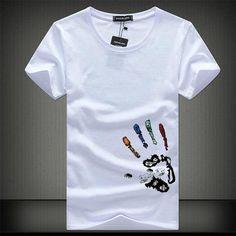 Men's T-Shirt Tee Shirt Homme Summer Short Sleeve Men's T Shirts - Michelle T Shirts, Printed Shirts, Tee Shirt Homme, Camisa Polo, Summer Tshirts, Herren T Shirt, Short, Shirt Style, Hot Men