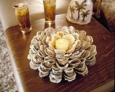 Muschel Kerzenschale