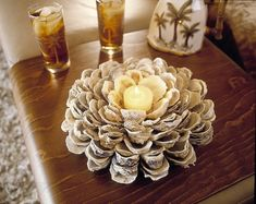 5. Candle Holder - 10 Beautiful DIY Shell Decor Projects … |Lifestyle