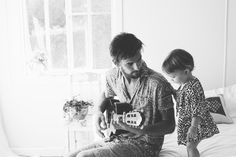 Andy talked about his love for music and the happiness that brings him. I think that a photo like this relates to what he said really well. I like the idea of having a child in the photograph too, showing that this is a love that they share.