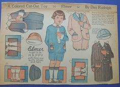 By Dan Rudolph 1924 Elmer ought to be happy with these new clothes From Ebay