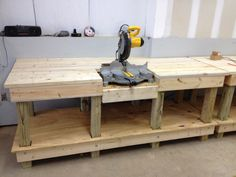 Miter saw table and Workbench