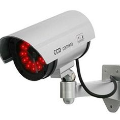 30 Illuminating Leds Sliver Fake Dummy Camera Home Security Surveillance Home Security Tips, Security Cameras For Home, Home Security Systems, House Security, Security Surveillance, Security Alarm, Safety And Security, Cctv Surveillance, Security Service