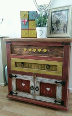 Rustic reclaimed pine dresser/unit sideboard shabby chic farmhouse | eBay