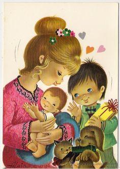 Postales antiguas buscar con google postales de - Ilustraciones infantiles antiguas ...