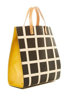 Willow Leather Check Tote