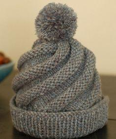 Hand Knitting Tutorials  Swirled Ski Cap - Free Pattern Knitted Hats Kids 05488b05679a