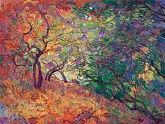 Cottonwood Path - Contemporary Impressionism | Landscape Oil Paintings for Sale by Erin Hanson