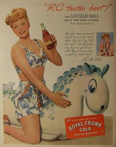 1940s Lucille Ball vintage RC Cola ad