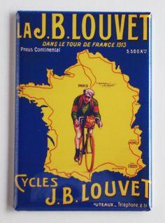 Tour De France 1913 Fridge Magnet by BlueCrabMagnets on Etsy, $4.95  Please follow us @ http://www.pinterest.com/wocycling