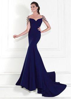 Amazing Mermaid Stretch Satin Sweetheart Neckline Floor-length Evening Dresses with Beadings and Rhinestones