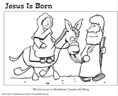 Free Nativity Coloring Pages for Kids | Sparkhouse Family Blog
