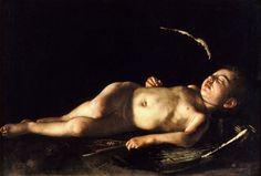 Микеланджело Меризи де Караваджо. Спящий Купидон 1608. 71x105. Палаццо Питти, Флоренция